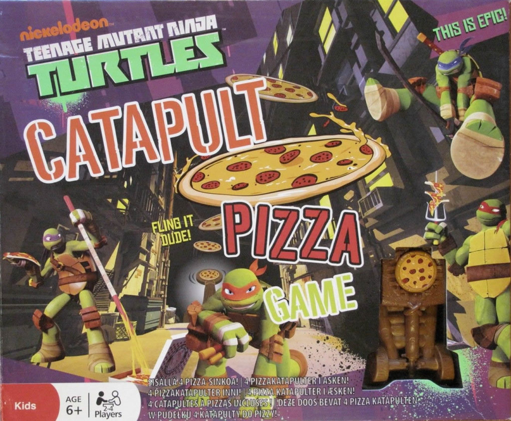 Teenage ninja turtles pizza katapult
